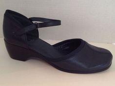 Easy Spirit Shoes Womens Size 11 M Blue Mary Jane Heels Finale Velcro | eBay