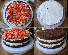 Bezlepkový jahodový dort Gluten Free Cakes, Raw Vegan, Tiramisu, Ham, Cheesecake, Cupcakes, Ethnic Recipes, Desserts, Pizza