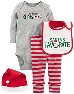 9f22203dc5f Carter s Baby 4-Piece My First Christmas Set