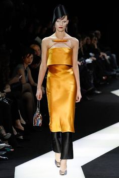 Armani Privé Spring 2013 Couture // orange silk