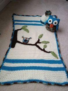crochet owl blanket 400x533 Crochet Blog Link Love!