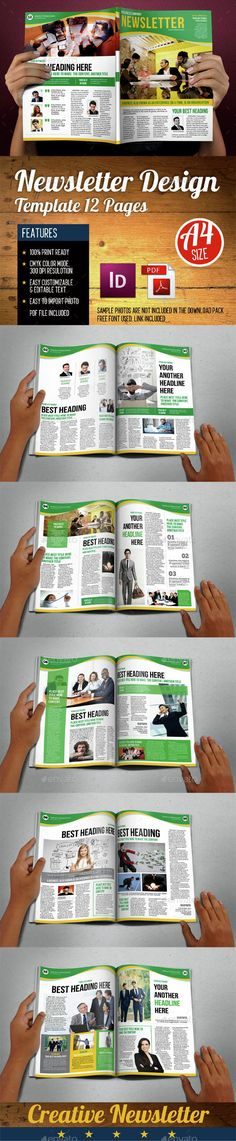 Newsletters Template 12 Pages Vol.4  - Newsletters Print Templates Download here : https://graphicriver.net/item/newsletters-template-12-pages-vol4-/14956920?s_rank=138&ref=Al-fatih