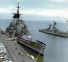 USS Chicago CG-11and USS Robert L. Wilson DD- 847.