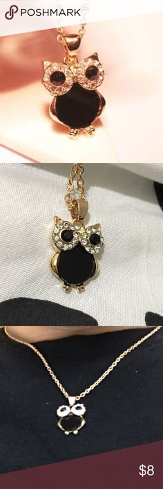 ✨Black & Gold Owl  necklace ✨ All new merchandise Jewelry Necklaces