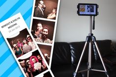Photo booth using your tablet or phone.