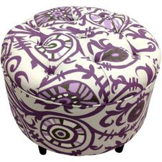 cute little storage ottoman. This would be a cute extra seat too!