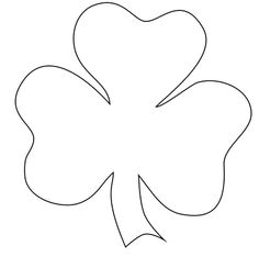 Shamrock pattern for Liv's shamrock shirt applique.