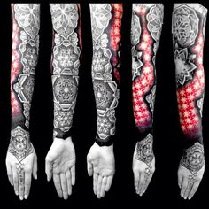 Tattoo work by Caco Menegaz Tattoo Cover, Epic Tattoo, Badass Tattoos, Life Tattoos, Body Art Tattoos, Geometric Sleeve Tattoo, Geometric Tattoo Design, Arm Sleeve Tattoos, Unique Tattoo Designs
