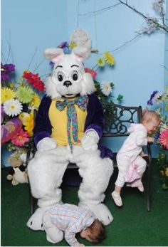funny picture with the easter bunny via the inspired room
