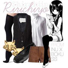 """[Inu x Boku SS] Shirakiin Ririchiyo - Episode/Chapter 2"" by animangacouture on Polyvore  www.otakucouture.com"