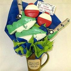 gone fishing cookie bouquet