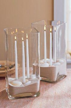 Tablescape ● Sand Centerpiece #beach wedding ... Wedding ideas for brides, grooms, parents & planners ... itunes.apple.com/... … plus how…