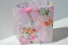 Unique elegant Shabby Chic party/gift  bag by steppnout on Etsy, $4.00