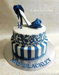 This cake was for Holly's lovely teacher Mrs Blackley. In my mind it started off as a small cake and with just 24 hours notice it grew to a large cake for 90 (the whole small school) with a full size stiletto on it! What a rush! At 4am I was convinced it was going to be a disaster…by 6am I was slightly less panicked.