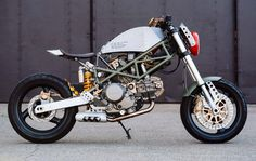 Inspired by the World War II P-51 Mustang fighter, Eric has created Mustang Sally, a rugged custom motorcycle based on the Ducati Monster 600.