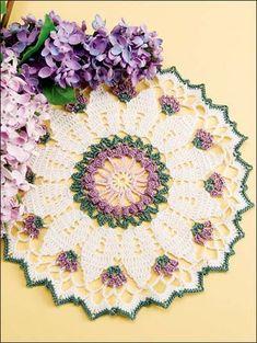 Crochet Doilies - Floral Doily Crochet Patterns - Victorian Flowers