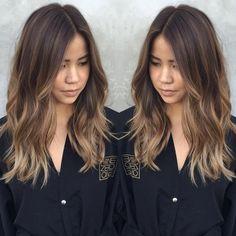 Image result for balayage straight brown hair