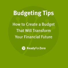 ReadyForZero E-books | ReadyForZero Create A Budget, Debt Payoff, Budgeting Tips, Ebooks, Money Saving Tips