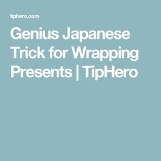 Genius Japanese Trick for Wrapping Presents Wrapping Presents, Christmas Planning, Christmas Is Coming, Wraps, Japanese, Gift Ideas, How To Plan, Fun, Gifts