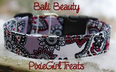 Paisley Dog Collar, Adjustable, Fabric Dog Collar, Side Release Buckle, Martingale by PixieGirlTreats on Etsy