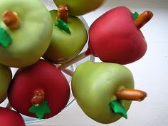 love and butter: how to: make apple-shaped cake pops