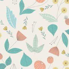 English Garden | Pearl :: Grey Abbey by Elizabeth Olwen for Cloud9 Fabrics (Feb'14 release) #floralpattern #greyabbeyfabrics