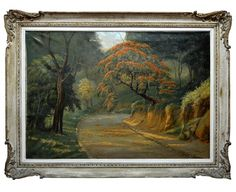 """A. Ramos - """"Paineiras"""", o.s.t. - 81 x 116 cm. Ass."""