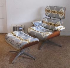 Remnant: Before & After: Eames Style Lounge Chair and Ottoman