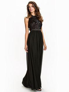 Nelly.com: Sequin Pocket Gown - NLY Eve - kvinde - Sort. Nyheder hver dag. Over 800 varemærker. Uendelig variation.