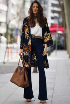 Ideas for moda boho chic bohemian fashion kimonos Fashion Moda, Kimono Fashion, Fashion Week, Womens Fashion, Fashion Ideas, Fashion Spring, Trendy Fashion, Street Fashion, Japan Fashion