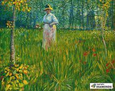 Art of the Day/ Van Gogh, A Woman Walking in a Garden, Summer Oil on canvas, 48 x 60 cm. via Van Gogh/ The Life FB Vincent Van Gogh, Artist Van Gogh, Van Gogh Art, Art Van, Paul Gauguin, Kunst Online, Online Art, Books Online, Dutch Artists