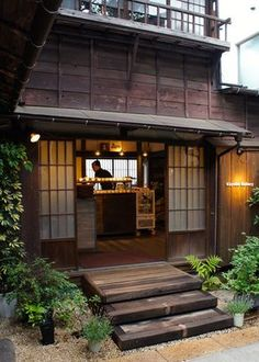 "谷中-Cafe & Bakery ""Kayaba"" in a renovated old house, Yanaka, Tokyo Japanese Style House, Traditional Japanese House, Japanese Modern, Japanese Interior, Japanese Design, Cafe Interior, Interior And Exterior, Japanese Architecture, Architecture Design"