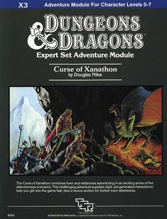 Curse of Xanathon (Dungeons & Dragons Module Dungeons And Dragons Art, Advanced Dungeons And Dragons, Science Fiction, Pen And Paper Games, Last Game, Wizards Of The Coast, Fantasy Rpg, Old School, Adventure