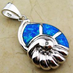 Blue Fire Opal Pendant  OP215L $14.99
