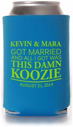Best Selling Wedding Can Cooler Templates - Inexpensive Wedding Favors! #wedding #koozies #favors