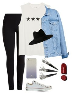 """Untitled #85"" by supervxlerie on Polyvore featuring Converse, Yves Saint Laurent and Kate Spade"