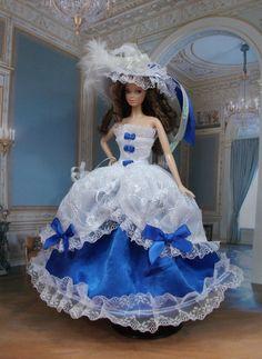 """Robe Barbie """" Marquise """" Princesse vêtement pour poupée  f3788"""