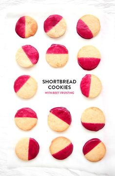 Shortbread cookies with beet frosting