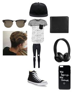 """""""Jace's outfit"""" by puppy-love8569 on Polyvore featuring Boohoo, AMIRI, Converse, McQ by Alexander McQueen, Beats by Dr. Dre, Tom Ford, Givenchy, men's fashion and menswear"""