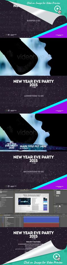 celebrate, christmas, confetti, disco, dj, eve, fashion, fun, music, new year, night, opener, party, promo, xmas, after effects templates, after effects ideas, after effects motion graphics, after effects projects, videohive projects Hello, Everyone!   	New Year Eve Party 2015 is After Effect Template (CS4 and above). Project designed for Your Best New Years Party. Energy and Sparkle design, modern night atmosphere will give unforgettable emotions for Your client! Give Your Party Unique…