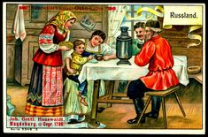 Kaiser-Otto Coffee, Magdeburg, Germany ~ Coffee Drinkers c1910 ~ Russia