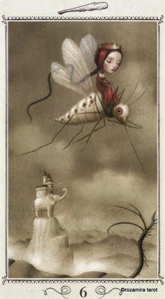 Six of Wands - Nicoletta Ceccoli Tarot by Nicoletta Ceccoli