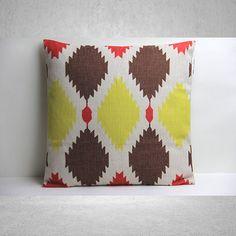 Aztec Pillow Cover, Pillow Cover, Decorative Pillow Cover, Pillow Case, Cushion Cover, Linen Pillow Cover, Throw Pillow, 18x18 Pillow Cover