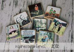 more coasters made with images printed on cardstock and the modge podge on stone tiles :)