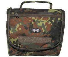 MFH Waschzeugtasche, flecktarn, div. Taschen, Cordura / mehr Infos auf: www.Guntia-Militaria-Shop.de