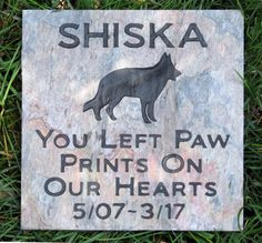 German Shepherd Pet Memorial Stone German Shepherd Memory Stone Grave Marker German Shepherd Tombstone Grave Marker 6 x 6 Inch Slate