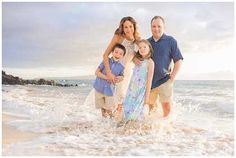 Maui Family Portraits with a Spectacular Sunset!