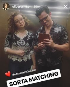 Carrie Hope Fletcher and Oliver Ormson Carrie Hope Fletcher, Carry On, Youtubers, Musicals, Random Stuff, Broadway, My Love, People, Random Things