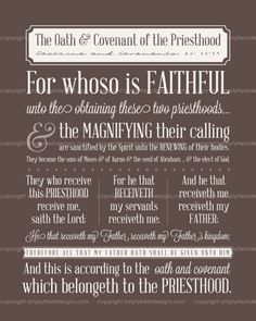 Oath & Covenant of the Priesthood.  20 files in 4 colors & 4 sizes included