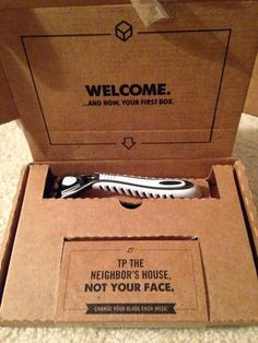 """This weekend I finally broke out one of the razors and took it for a whirl. And guess what? It works just as well as all the brand name razors that are going for way more money at the grocery store."" - Schotty's review of Dollar Shave Club"